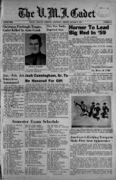 The Cadet. VMI Newspaper. January 09, 1959 - New Page 1 [www2 ...