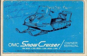 1966 Snow Cruiser - Vintage Snow