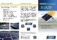 Flachdachsystem (pdf, 1,7 MB) - mistral solar applications
