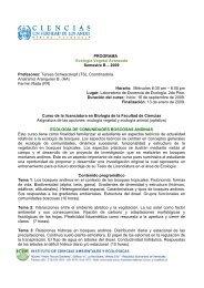 Programa de Ecología Vegetal Avanzada (B2009). - Facultad de ...
