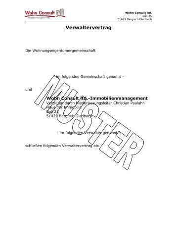 Mustervertrag Bernd Schulz Immobilien