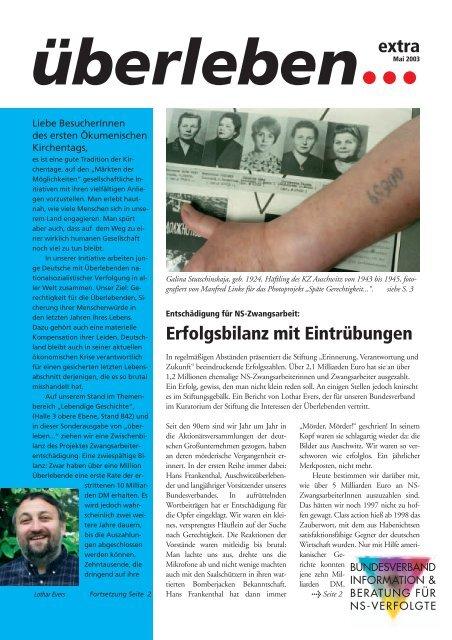 Überleben Extra Kirchentag 2003 - Bundesverband Information und ...