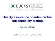 Quality assurance of susceptibility testing - eucast