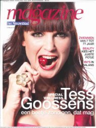 Nieuwsblad Magazine 05/02/2011 Periodicity : Weekly Printrun ...