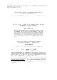 Applicable Analysis and Discrete Mathematics ASYMPTOTIC ...