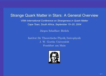 neutron stars - Institut für Theoretische Physik der Universität