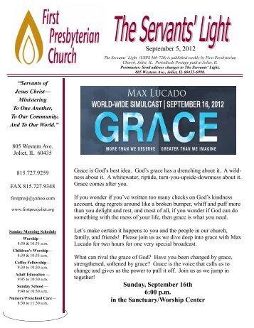 September 5, 2012 Sunday, September 16th 6:00 p.m. in the ...