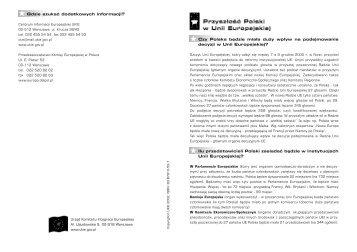 polska w UE - Centrum Informacji Europejskiej