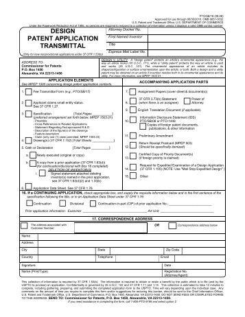 Patent forms pdf