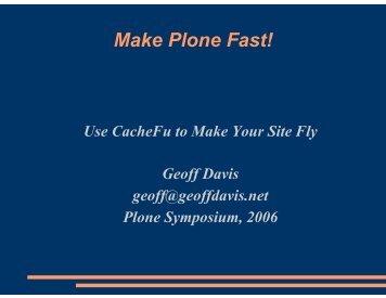 Make Plone Go Fast (pdf)