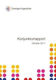 Konjunkturrapport oktober 2011 (pdf) - Sveriges ingenjörer