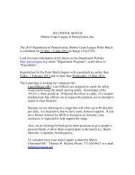 2013 PISTOL MATCH Information - Pamcleague.org