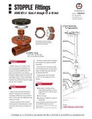 STOPPLE® Fittings - T.D. Williamson, Inc.