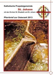 Osterpfarrbrief 2013