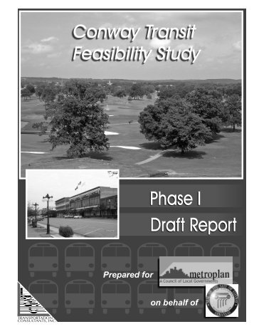 Phase I Draft Report - City of Conway Arkansas