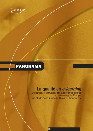 La qualité en e-learning - Europa