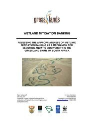 WETLAND MITIGATION BANKING - Ecosystem Marketplace