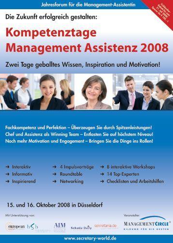 Kompetenztage Management Assistenz 2008 - EUMA Germany