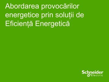 Energy Efficiency and Electricity - Schneider Electric