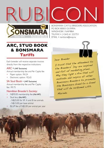 English Newsletter - Bonsmara Breeders Association