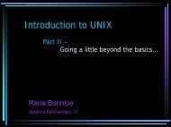 Unix Intro II - scharp