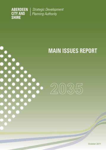 Main Issues Report - Aberdeen City Council
