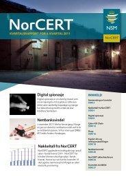 NorCERT kvartalsrapport for 4. kvartal 2011 - NSM