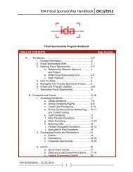 IDA Fiscal Sponsorship Handbook 2011/2012 - International ...