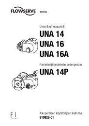 UNA 14 UNA 16 UNA 16A UNA 14P - Gestra AG