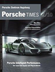 Der Neue 918 Spyder Mit - Porsche Zentrum Olympiapark