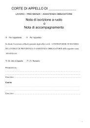 Sezione lavoro, previdenza e assistenza - Ordine degli Avvocati di ...