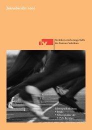 Jahresbericht 2005 - IV-Stelle des Kantons Solothurn