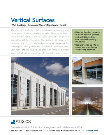 Brochure - Vertical Surfaces - Vexcon Chemicals