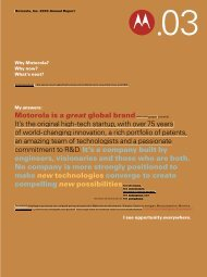 2003 Motorola Annual Report - Motorola Solutions