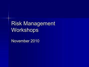 Risk Management Workshops