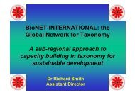 BioNET-INTERNATIONAL: the Global Network for Taxonomy A sub ...