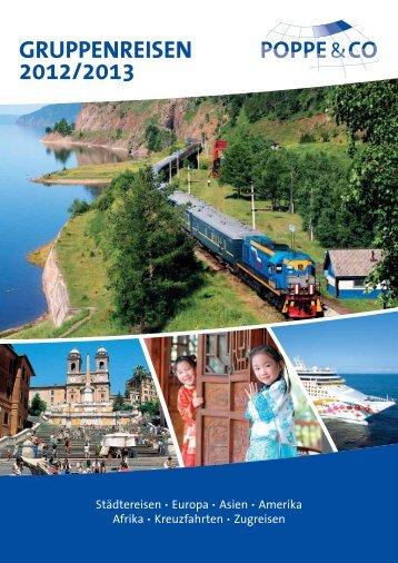 inhaltsverzeichnis gruppenreisen 2012/2013 - Poppe Reisen