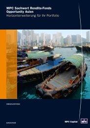 MPC Sachwert Rendite-Fonds Opportunity Asien - Porath Consult