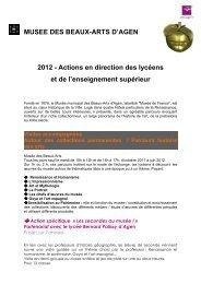 Actions lycées et enseignement supérieur - Ville d'Agen