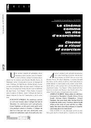 le cinéma comme un rite d'exorcisme / Cinema as a ... - Africultures