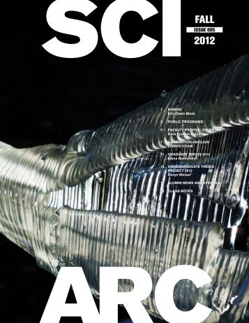 FALL 2012 - Southern California Institute of Architecture