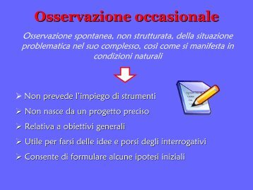 Osservazioni occasionali - USP di Piacenza