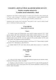 volební a jednací řád AS FSI - Fakulta strojního inženýrství