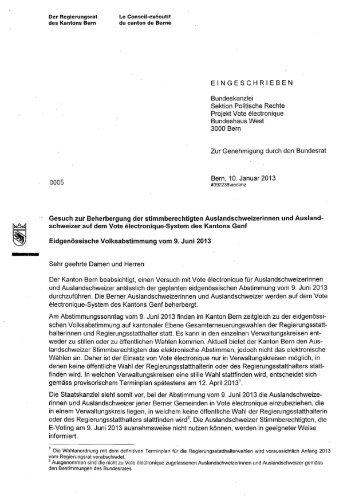 EINGESCHRIEBEN Bundeskanzlei Sektion Politische Rechte ...