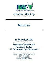 General Meeting Minutes 21 November 2012 - Local Government ...