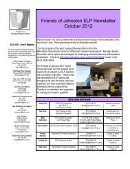 October 2012 - Johnston Community School District