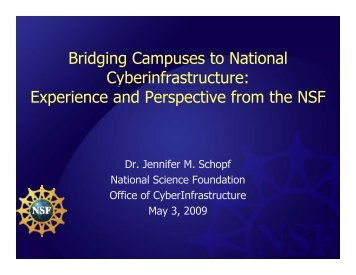 Bridging Campuses to National Cyberinfrastructure - Cornell ...