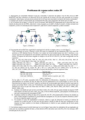 Problemas de repaso sobre redes IP