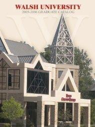 ma in education - Walsh University