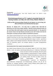 Logitech Gaming Keyboard  G105 & G9x Laser ... - PresseBox